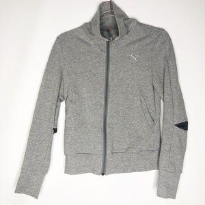 Puma zip up high neck hoodie vented elbows xs